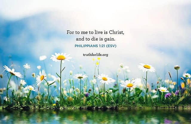 To Live Is Christ: Wallpaper
