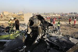 Despite videos of crash, Iran insists 'no missile hit the plane'