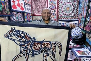 Need art to hang in your tent? Get thee to Cairo.
