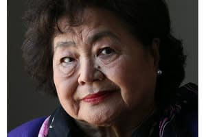 This is a thumbnail for the post She survived an atomic bomb. Now she campaigns against them.