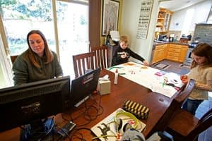 Work and parent at the same time? A crisis highlights 'dual lives.'