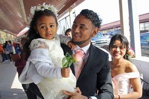 To reunite a family kept apart, a wedding on a cross-border bridge
