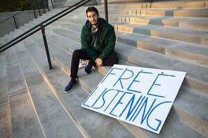 Lending an ear: 'Free listening' is this guy's business