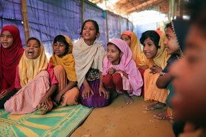 Bangladesh counters human trafficking of Rohingya with schools